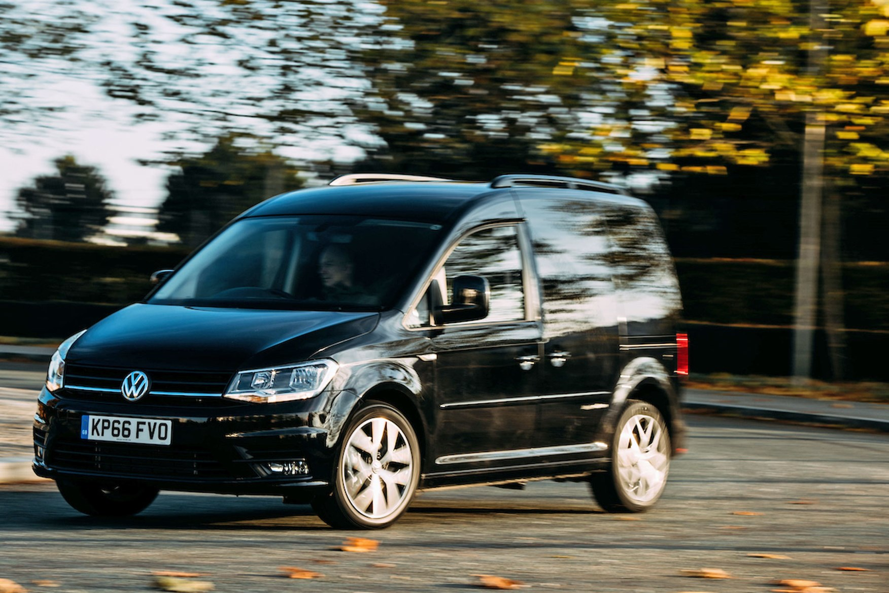 VW Caddy Black Edition review - front view, driving, 2017
