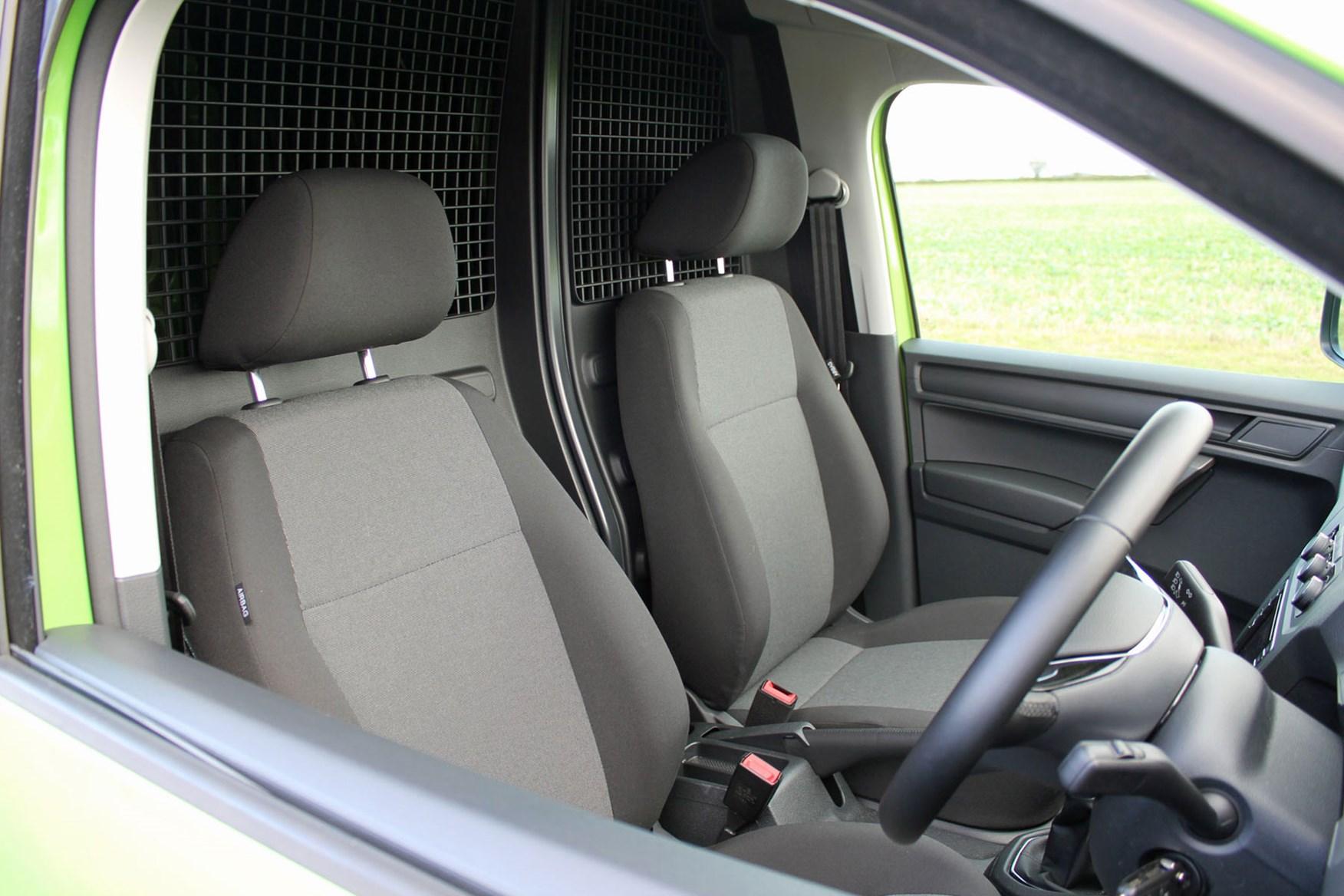 VW Caddy 1.0-litre TSI 102 review - seats, 2017