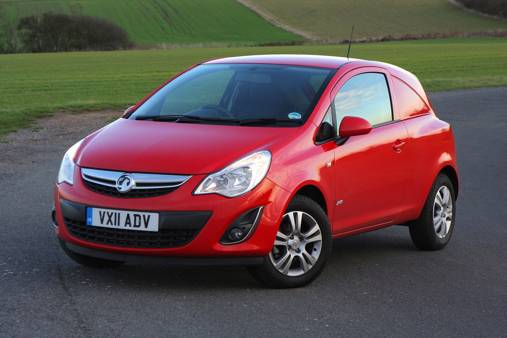 Vauxhall Corsa review on Parkers Vans - front exterior