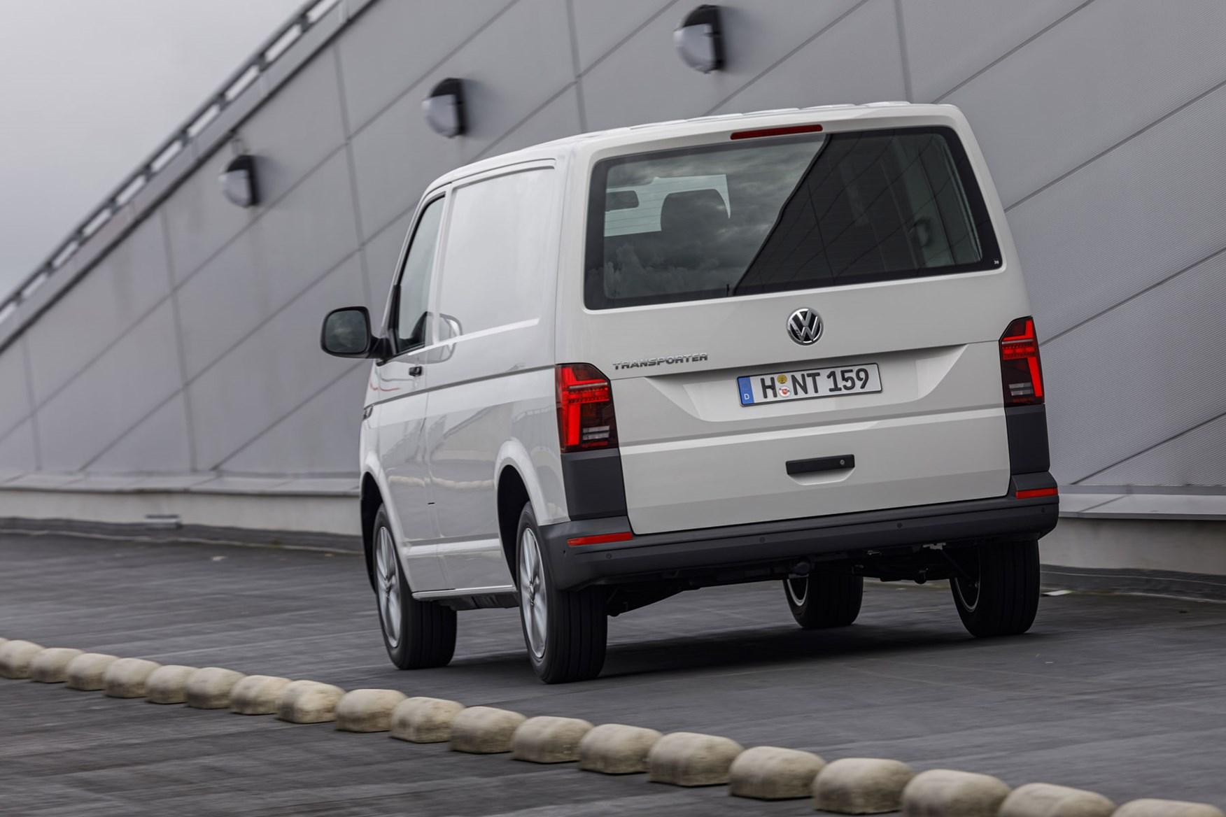 VW Transporter review - T6.1 2019 facelift, rear view, white