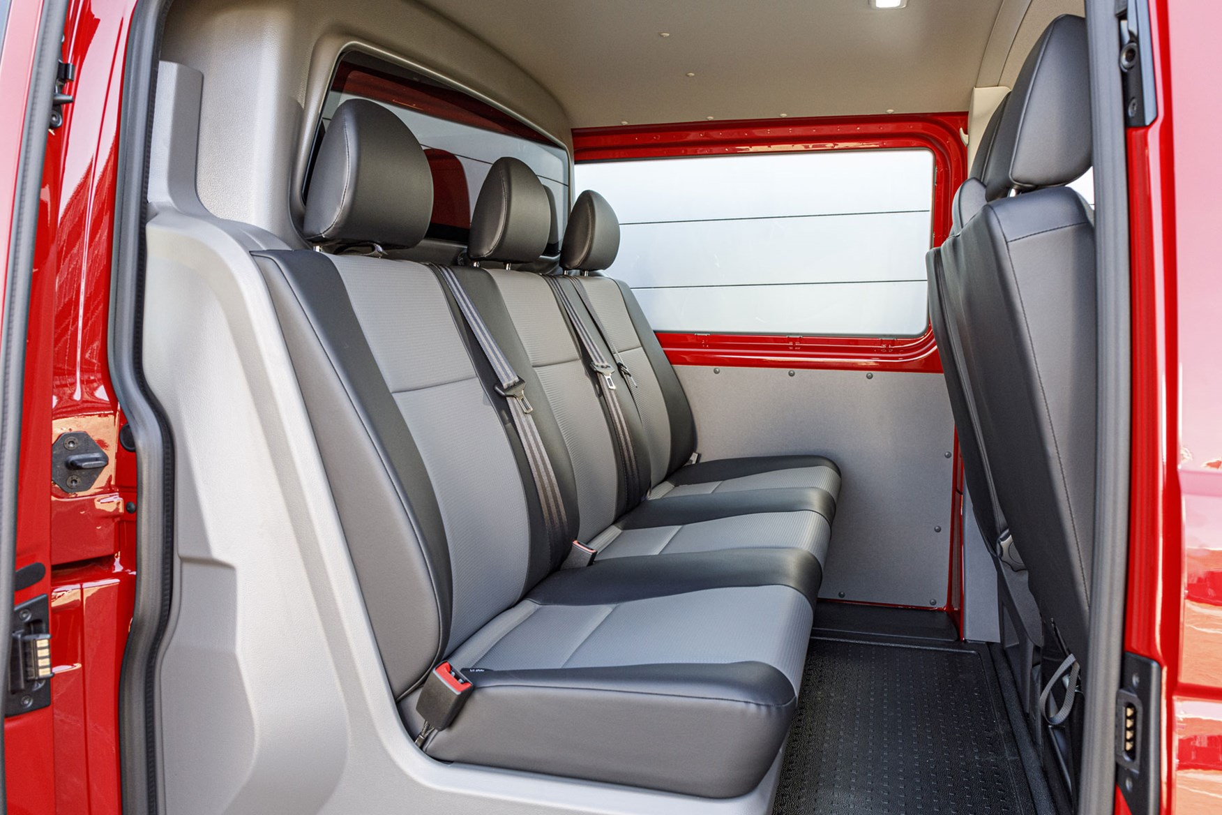 VW Transporter review - T6.1 2019 facelift, kombi rear seats