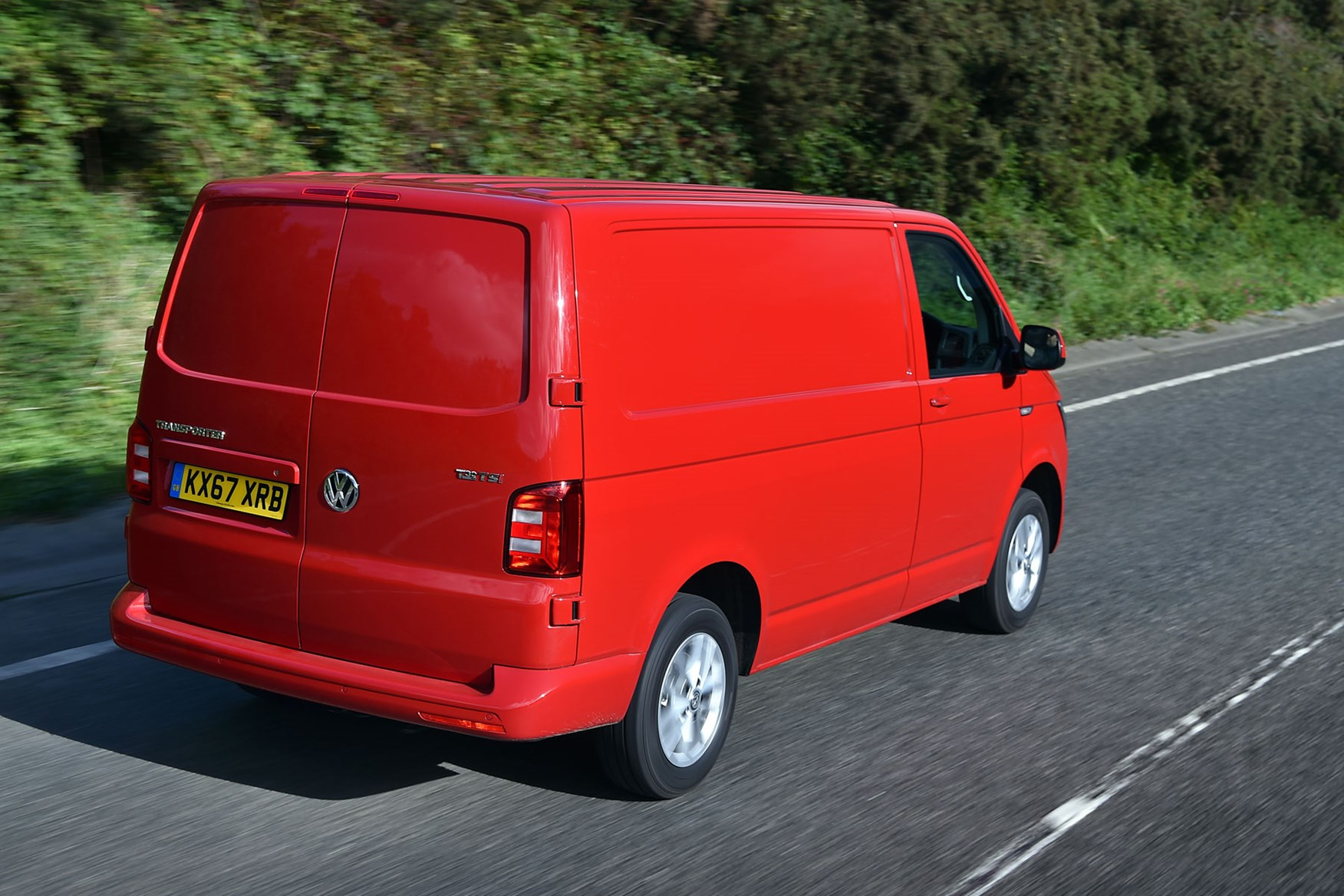 VW Transporter (2015-on) TSI driving rear view