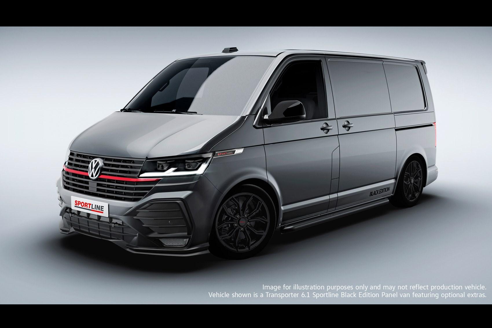 2021 VW Transporter 6.1 Sportline - front view, grey