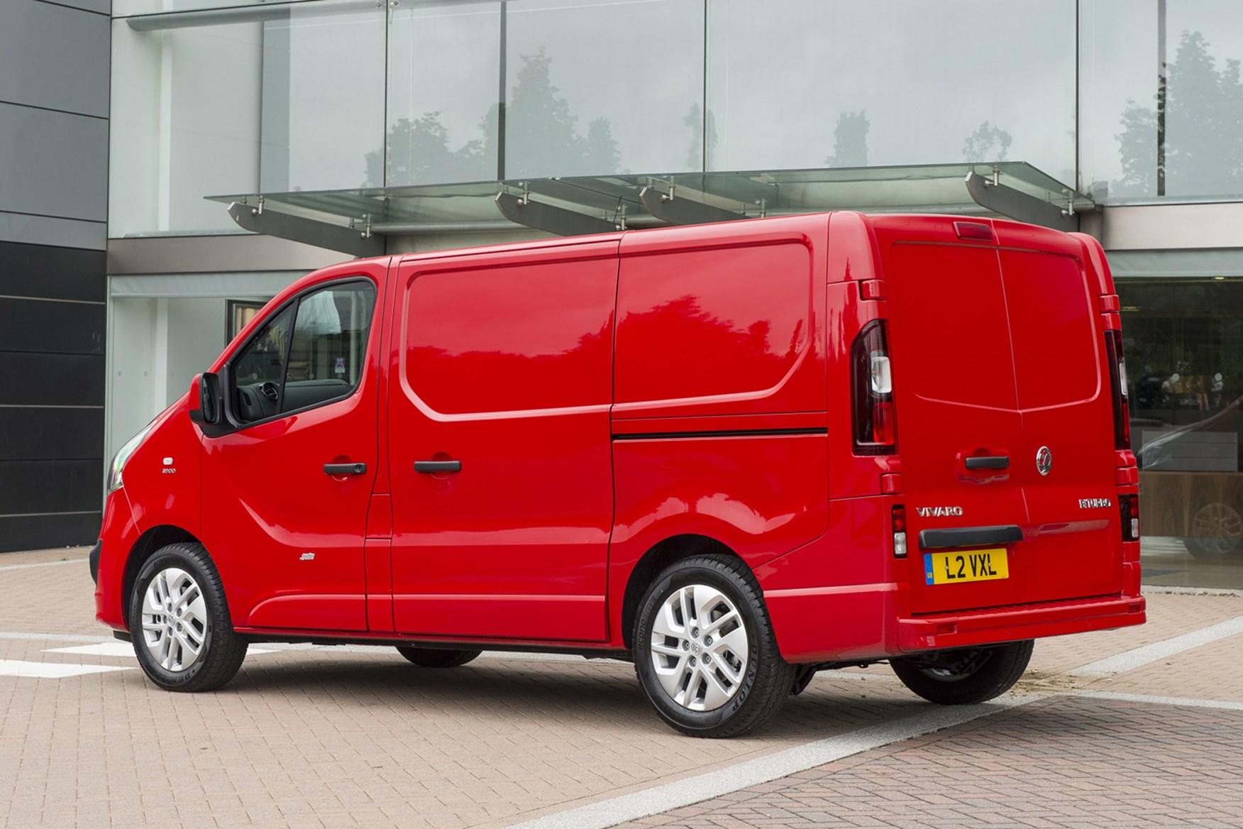 Vauxhall Vivaro - rear view, red
