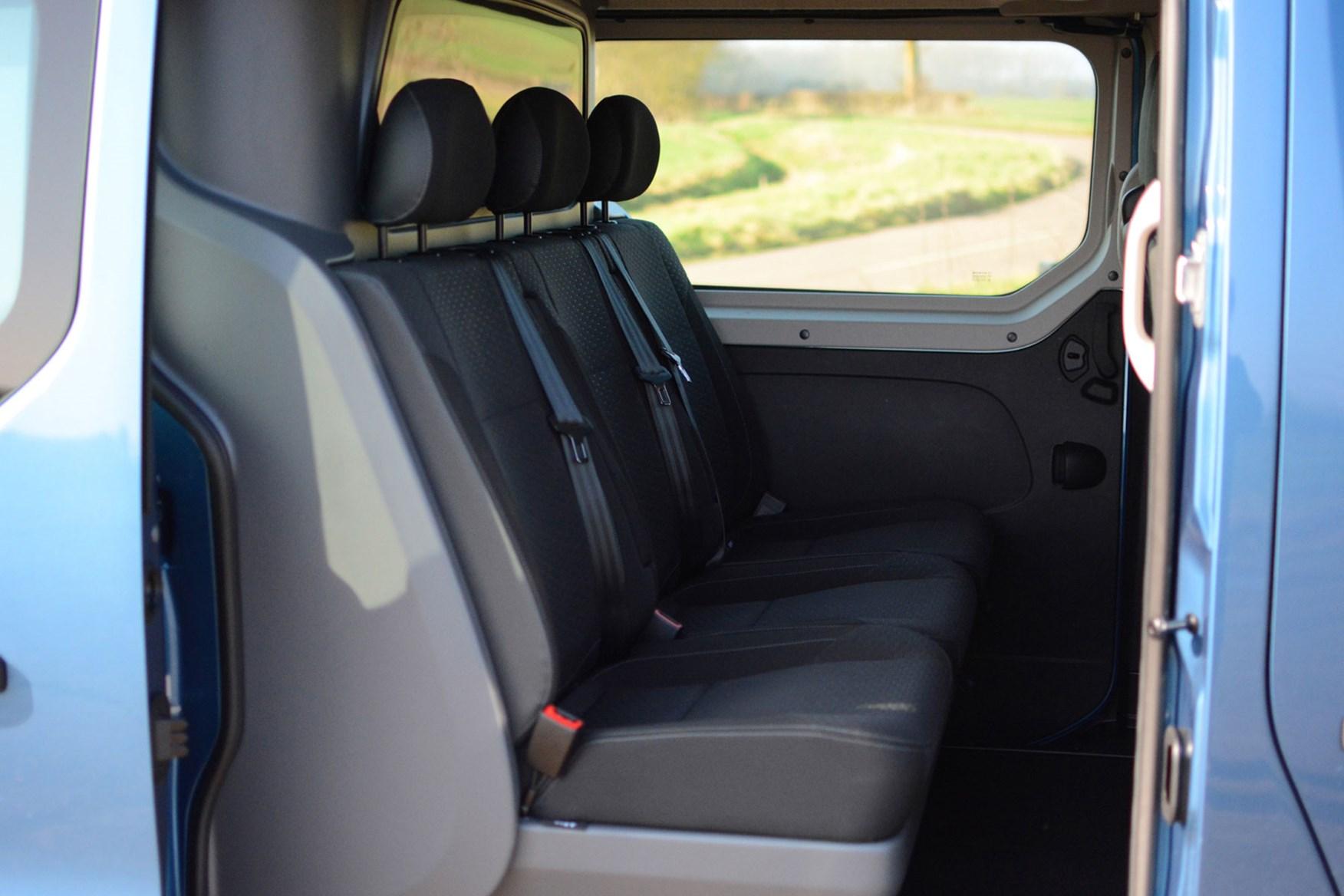 Vauxhall Vivaro Doublecab Sportive review - rear seats