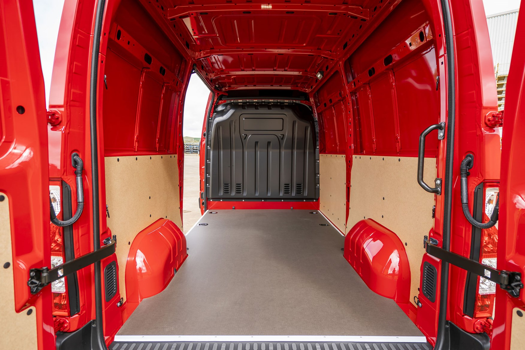 Vauxhall Movano - 2020 model year, load area viewed through rear doors, 2019