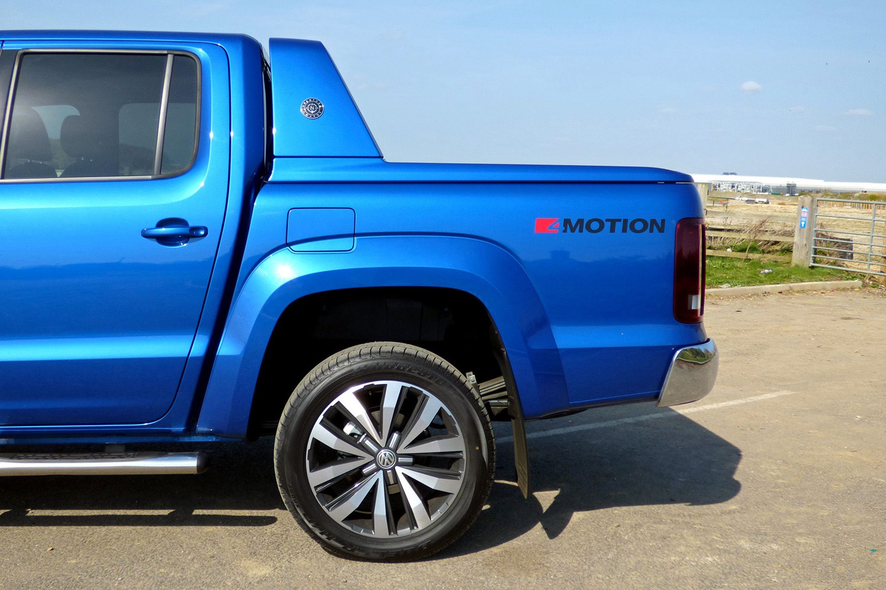 VW Amarok V6 Aventura 258hp review - rear sports bar, blue