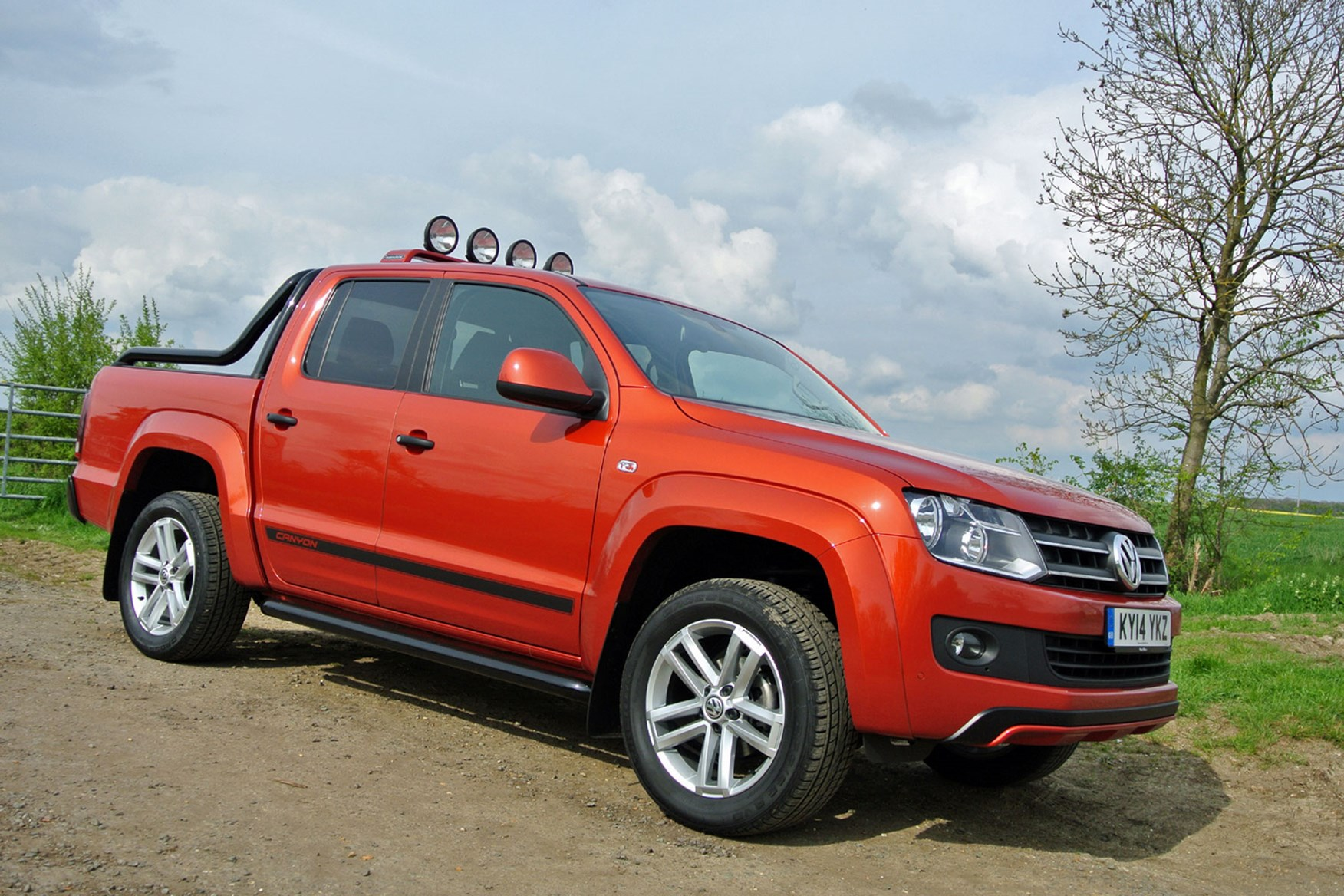 VW Amarok 2.0-litre Canyon 180hp review - front view, orange