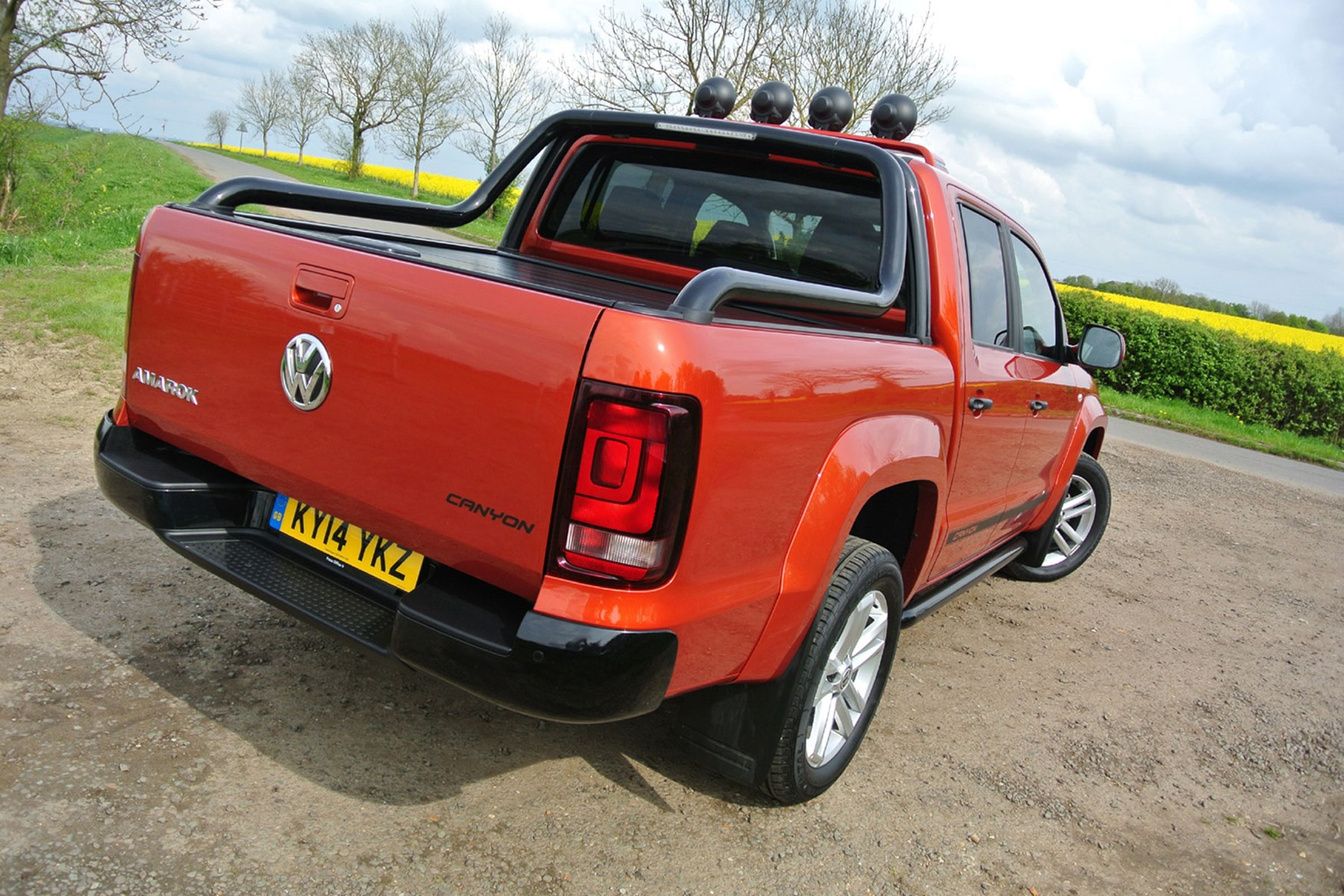 VW Amarok 2.0-litre Canyon 180hp review - rear view, orange