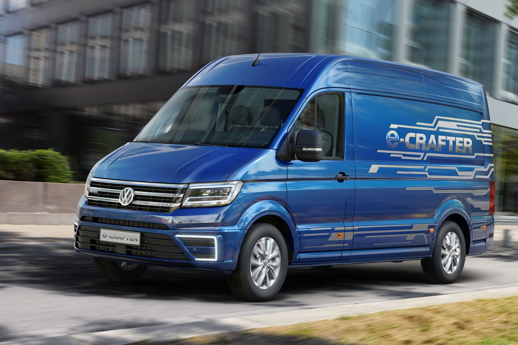 VW e-Crafter electric van - on sale in the UK in 2021