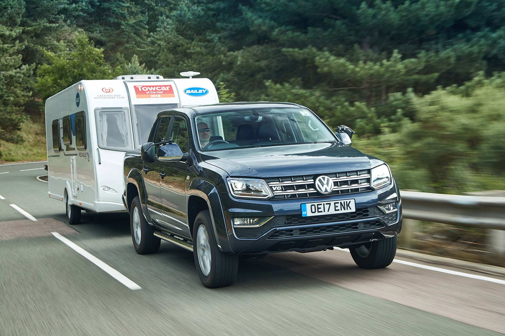 VW Amarok towing capacity - towing a caravan