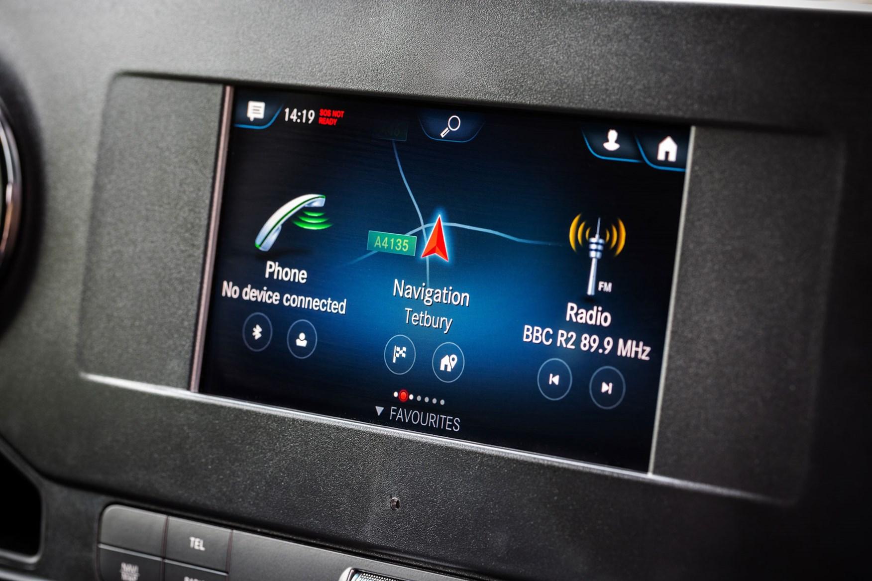 Mercedes Sprinter (2018-on) MBUX 7.0-inch screen
