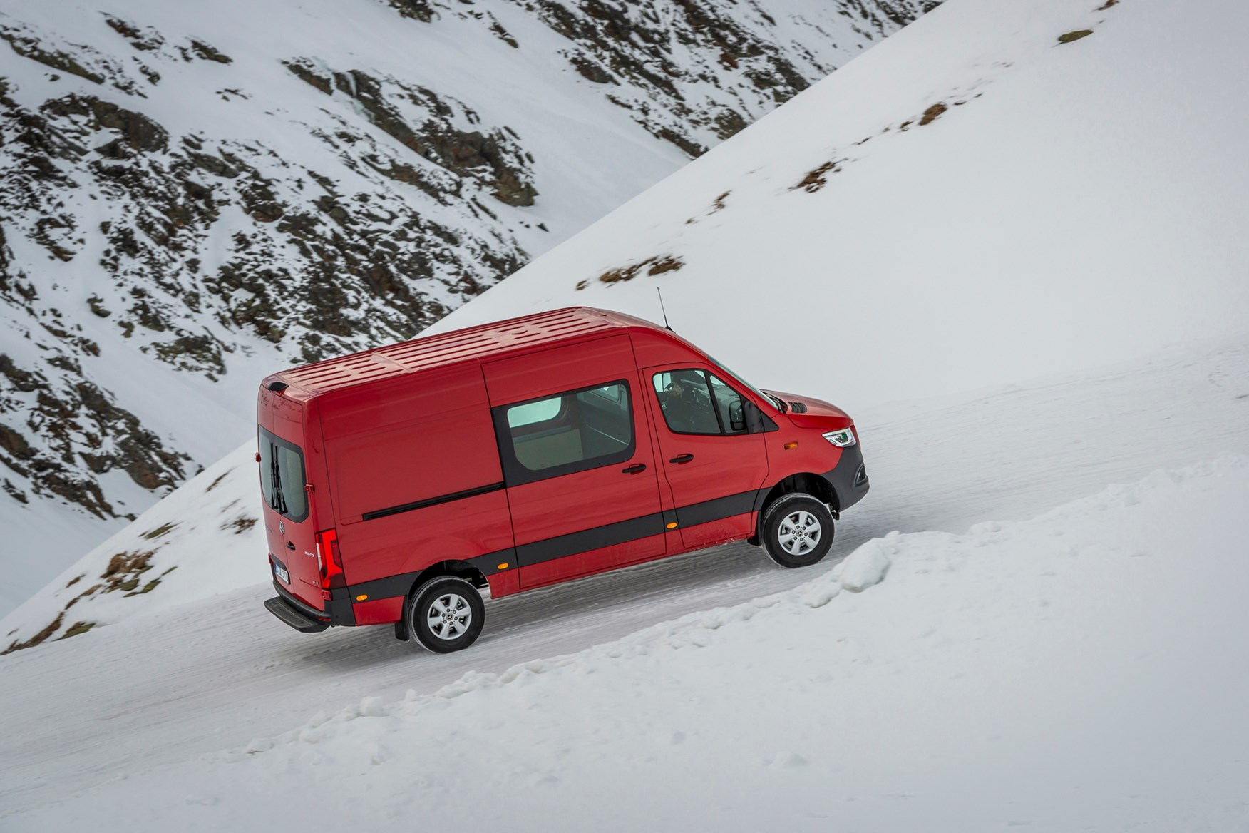 Driving the Mercedes Sprinter 4x4 off road highlighted its extra traction