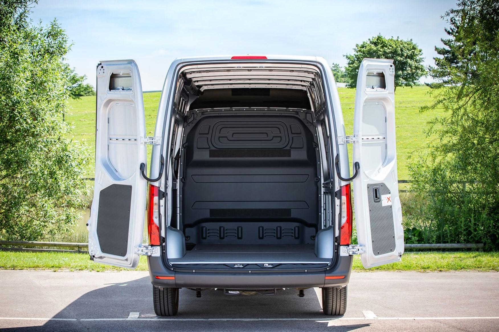 Mercedes Sprinter (2018-on), rear doors open, load area