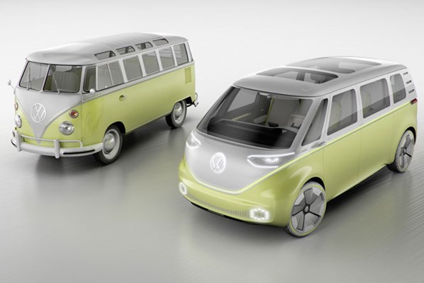 Volkswagen Id Buzz Concept Electric Goes Retro As A Van