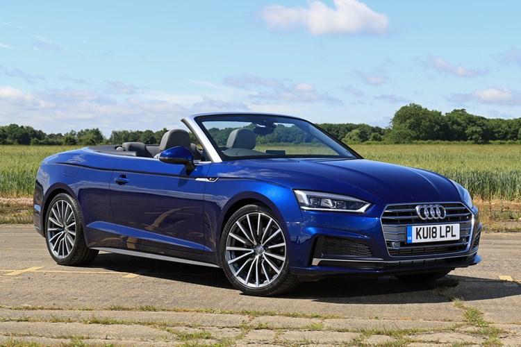 Blue 2018 Audi A5 Cabriolet