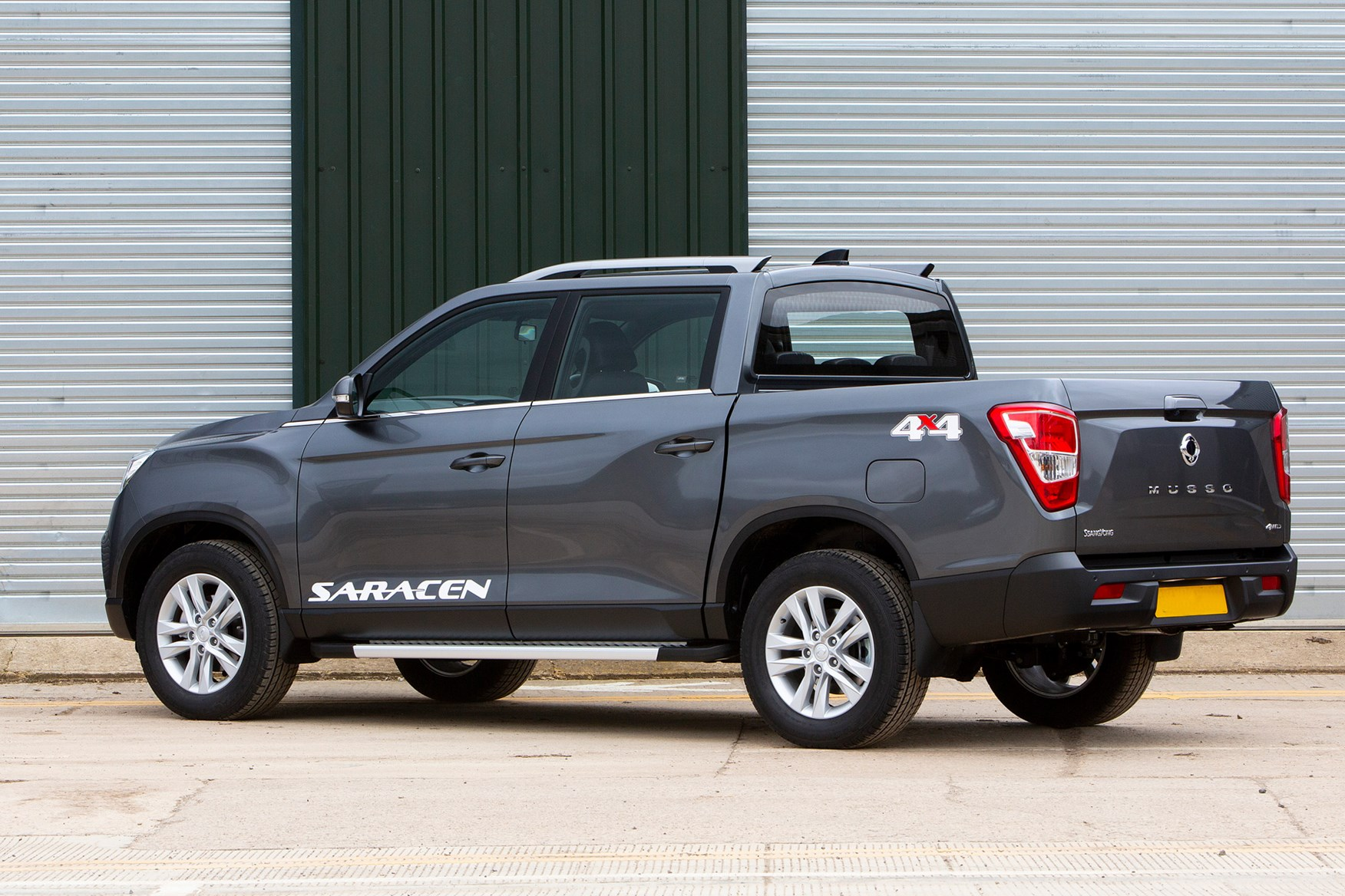 SsangYong Musso review, 2020, Saracen, grey, rear view
