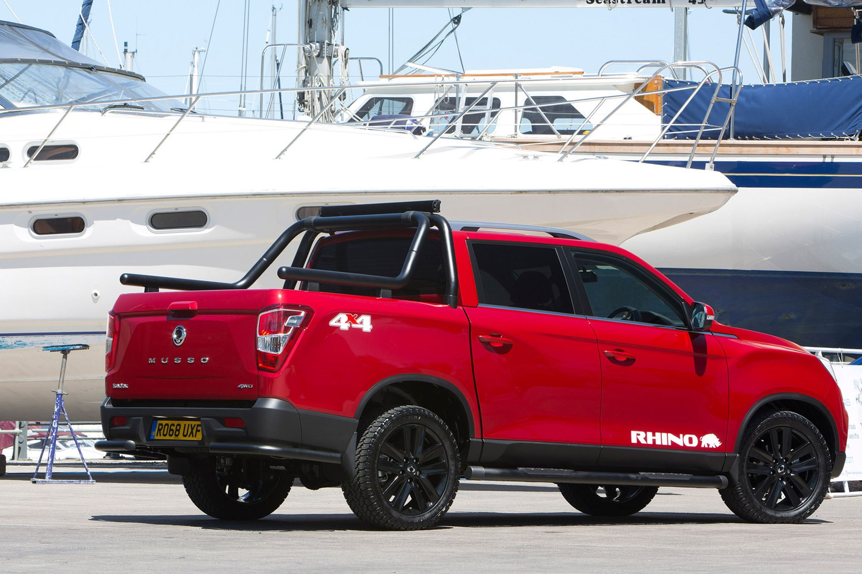 SsangYong Musso (2018-on) review, Rhino, rear view, red