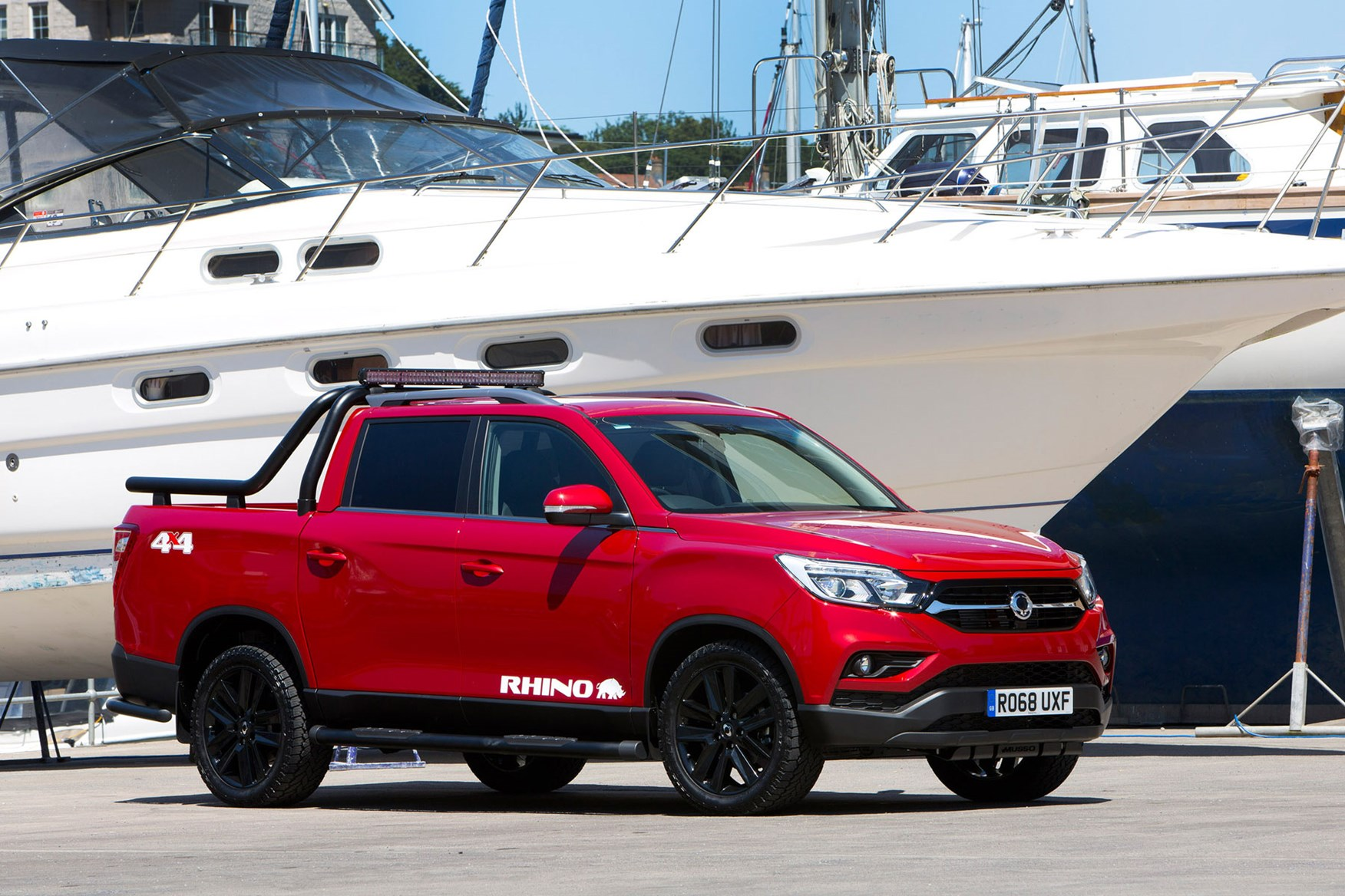 SsangYong Musso (2018-on) review, Rhino, front view, red