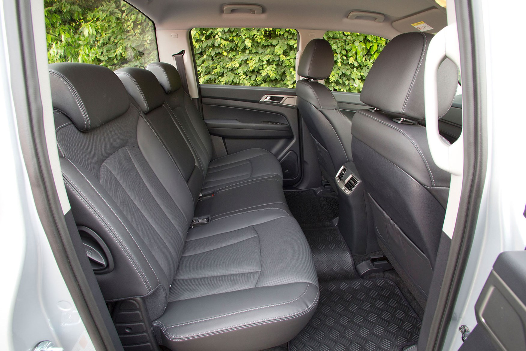 SsangYong Musso (2018-on) review, rear seats, leather