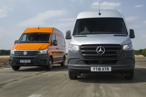 Mercedes Sprinter vs VW Crafter twin-test review - which