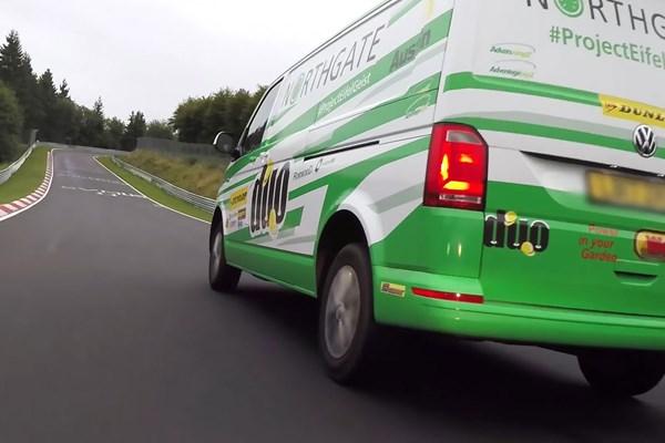Vw transporter rental van sets new nurburgring record video parkers vw transporter takes on the nurburging publicscrutiny Images