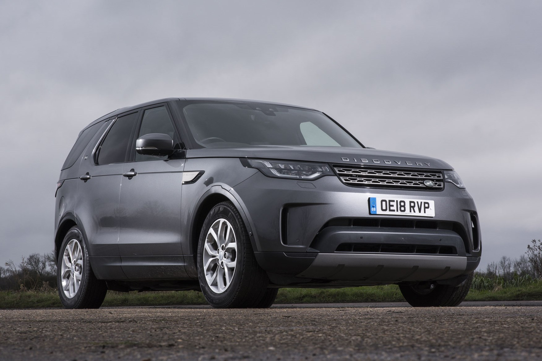 Land Rover Discovery Commercial review (2020), front view, silver