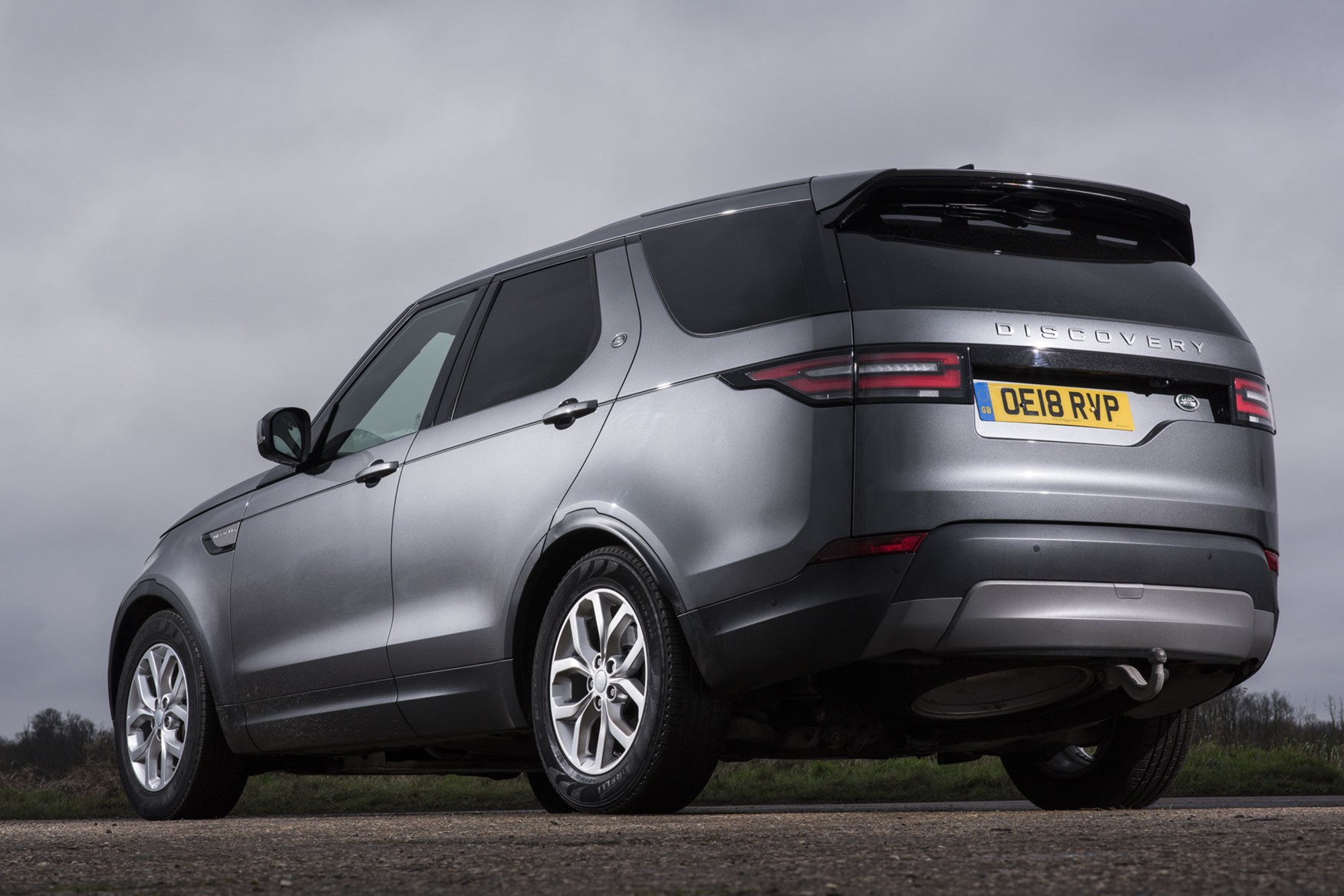 Land Rover Discovery Commercial review (2020), rear view, silver
