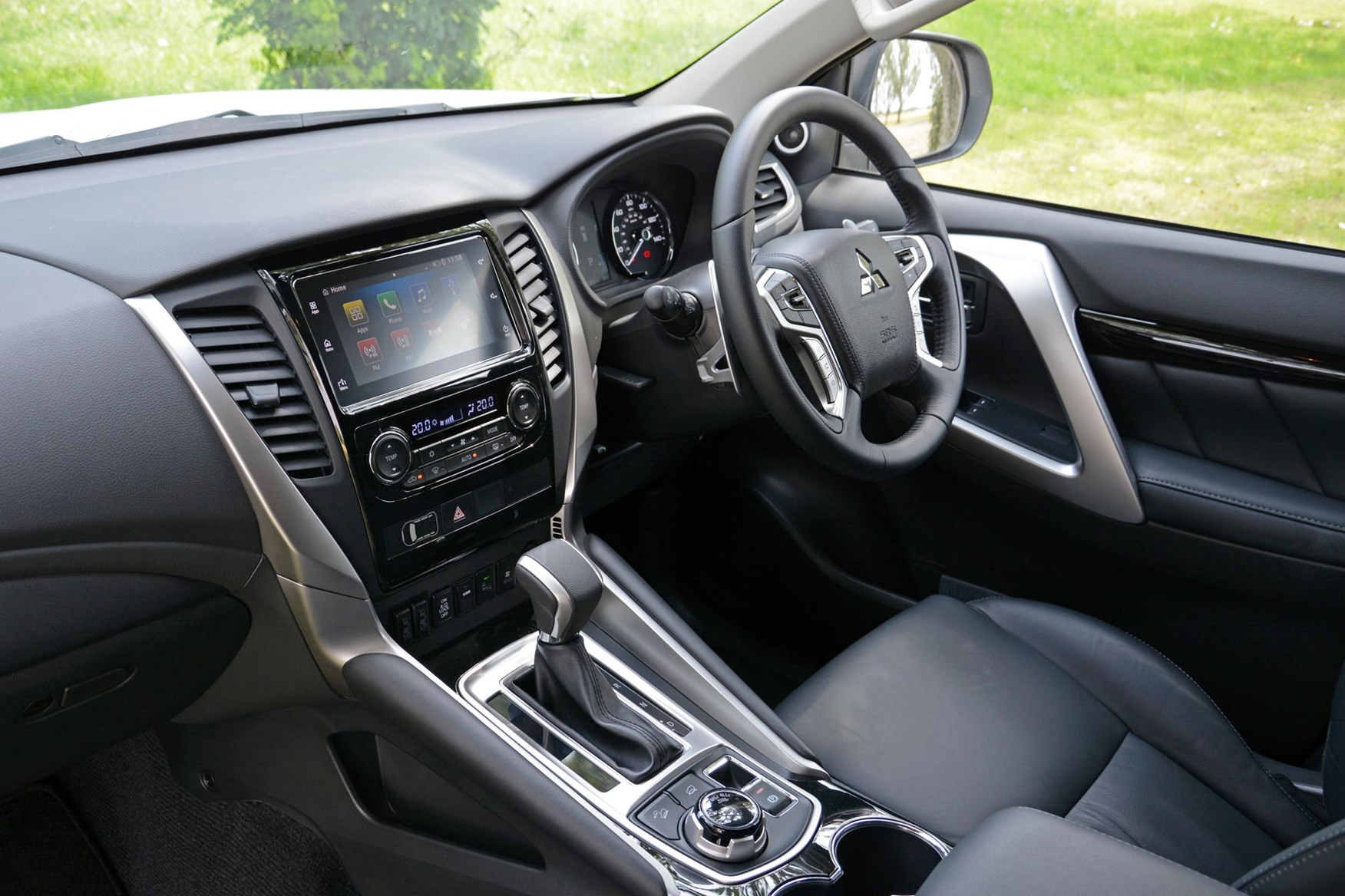 Mitsubishi Shogun Sport Commercial 4x4 van review - cab interior showing dashboard and steering wheel
