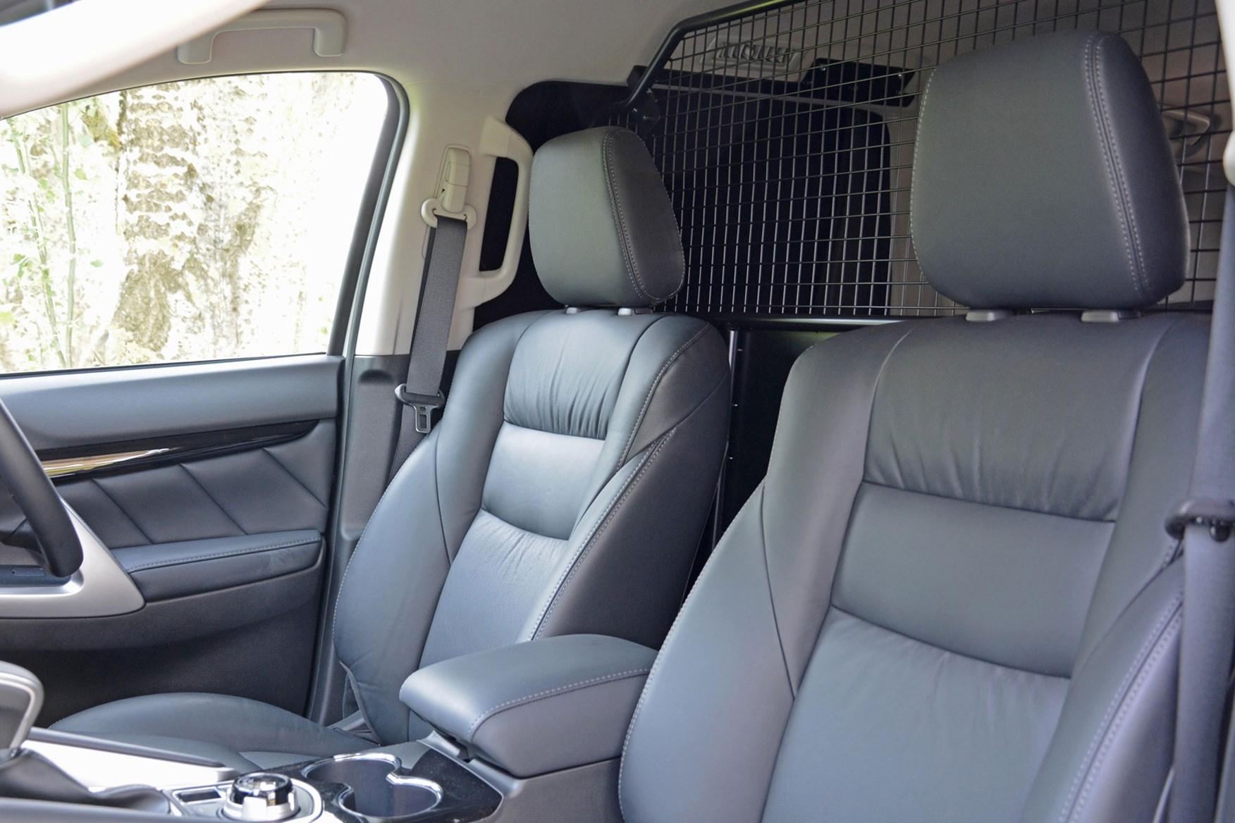 Mitsubishi Shogun Sport Commercial 4x4 van review - seats and bulkhead