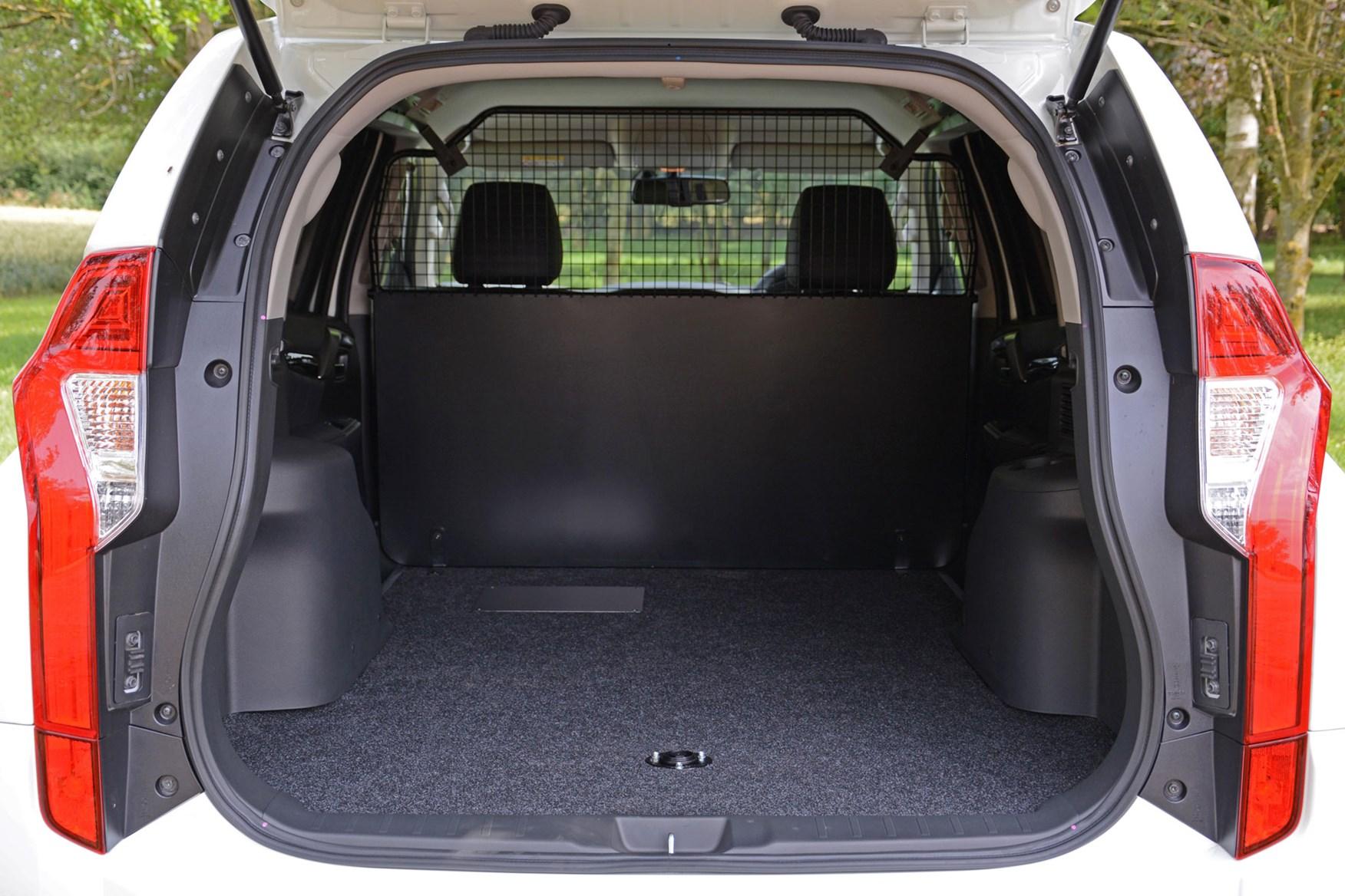 Mitsubishi Outlander Commercial 4x4 van review - load area
