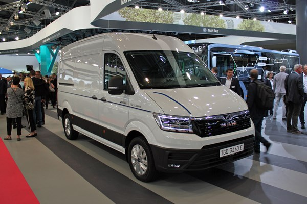 Electric MAN eTGE shown at IAA Commercial Vehicles