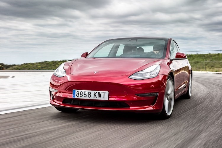 Best electric cars: Tesla Model 3 (2020) front view