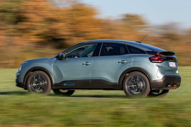 Best electric cars: Citroen e-C4 (2021) driving