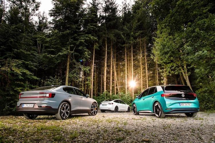 Volkswagen ID.3 vs Tesla Model 3 vs Polestar 2