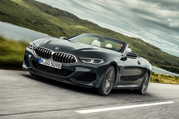 BMW 8 Series Convertible 2019 unveiled: front driving shot