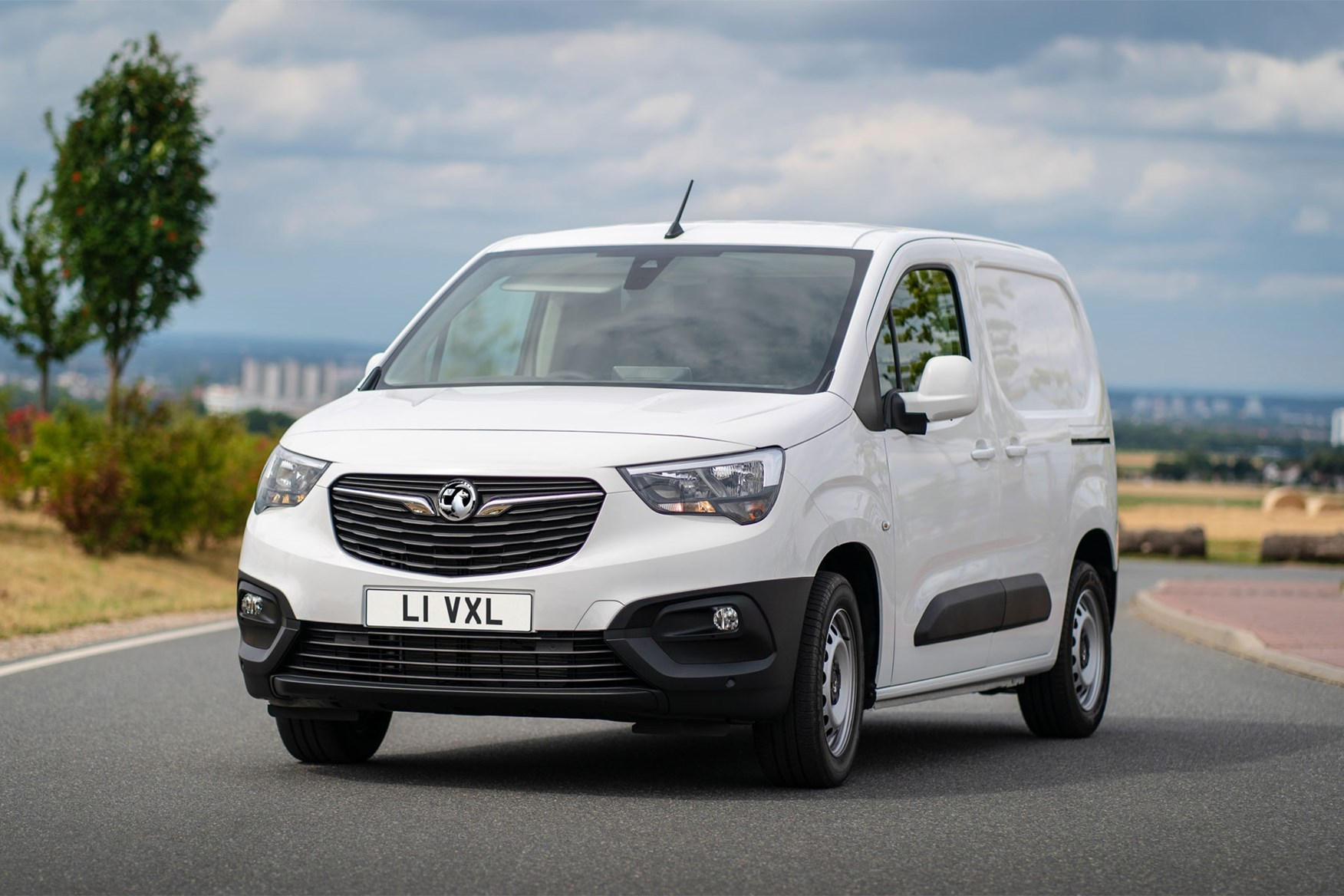 Vauxhall Combo Cargo van review - white, front view, 2020