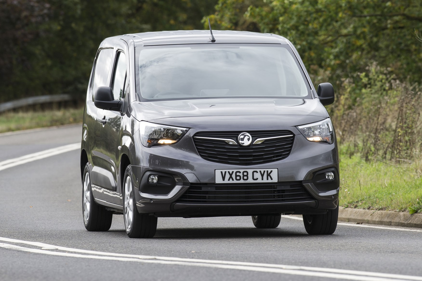 Vauxhall Combo 2019 review - grey, front view, driving