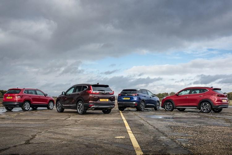 Skoda Karoq, Honda CR-V, Peugeot 3008, Hyundai Tucson