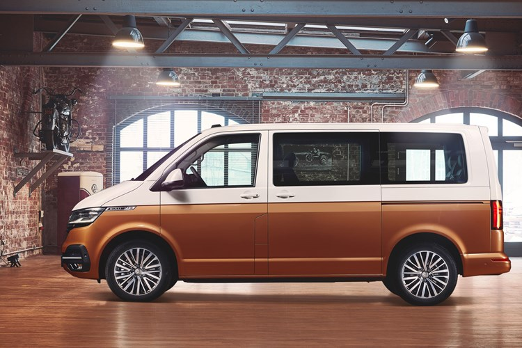 2019 VW Transporter T6.1 facelift - Multivan Caravelle side view