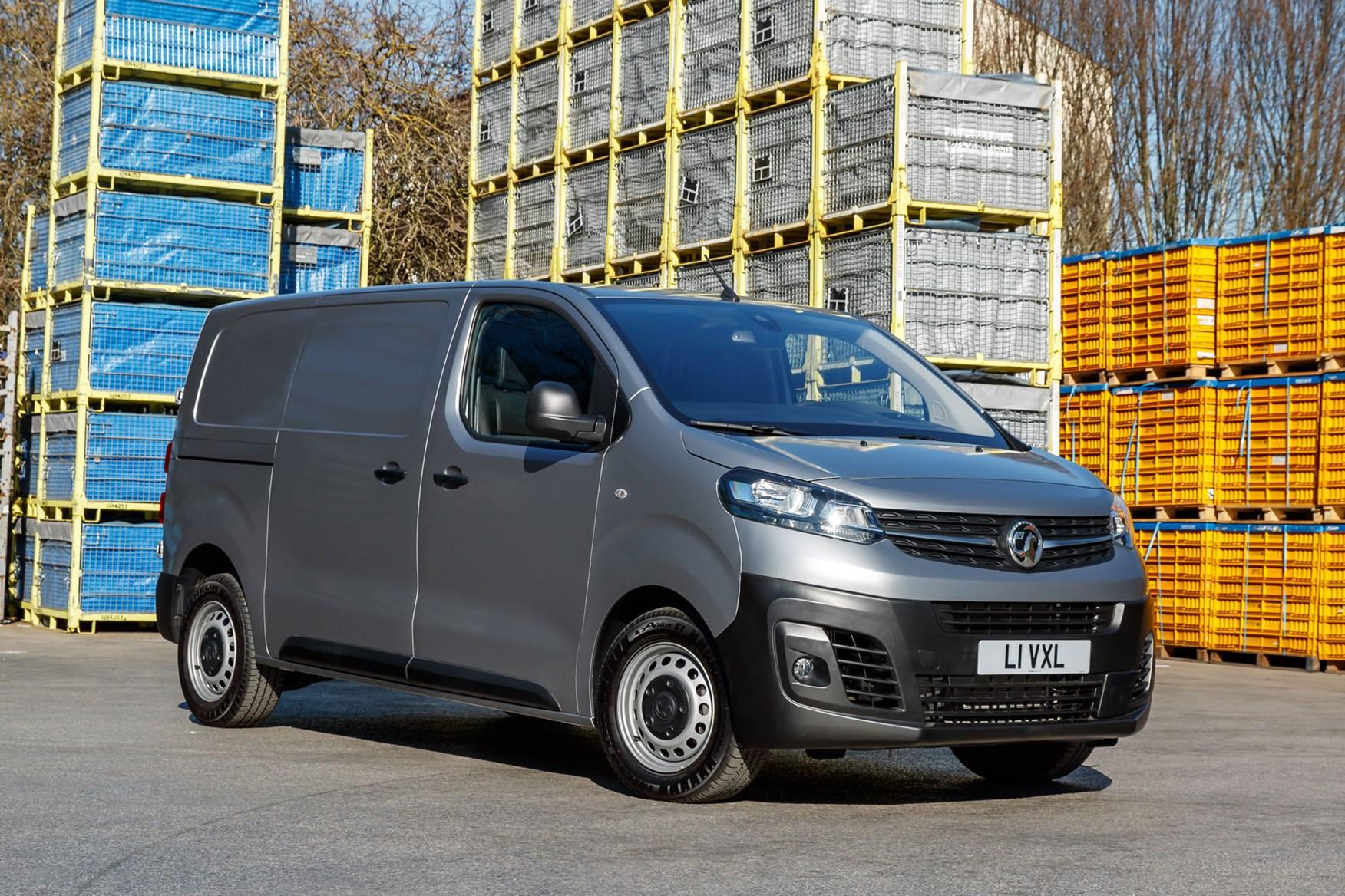 Vauxhall Vivaro review - front view, silver, builders merchants