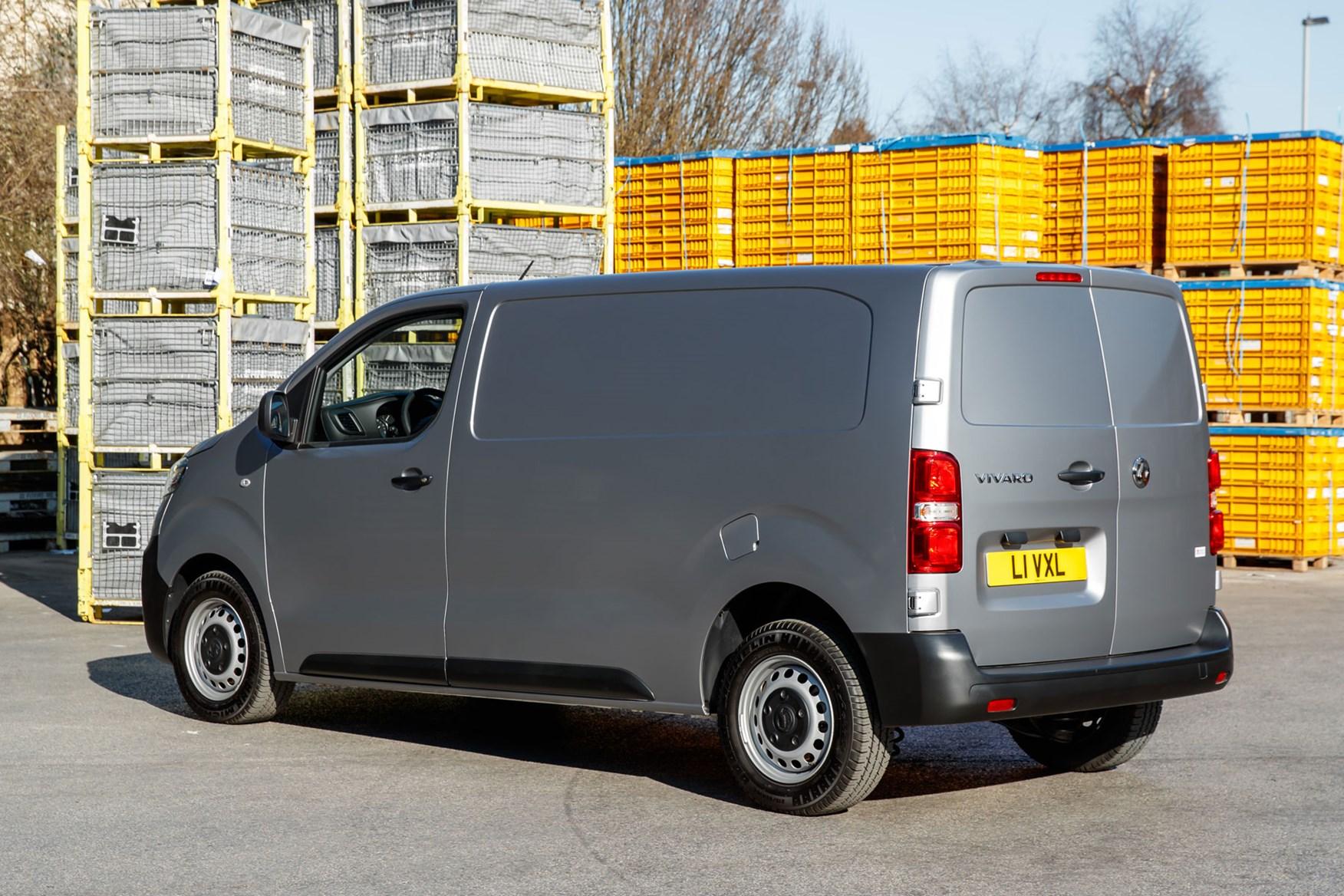 Vauxhall Vivaro review - rear view, silver, builders merchants
