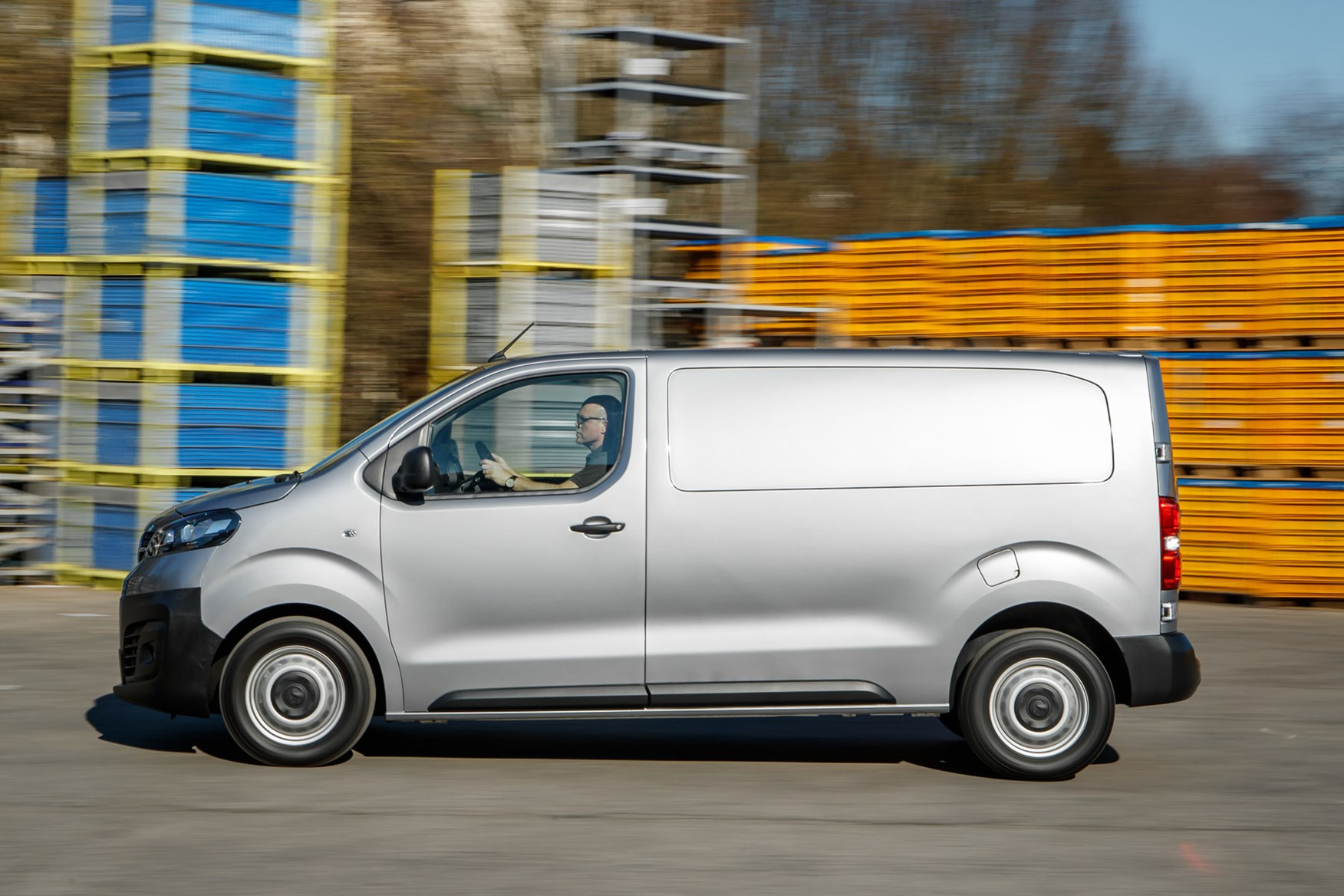 Vauxhall Vivaro review - side view, driving, silver