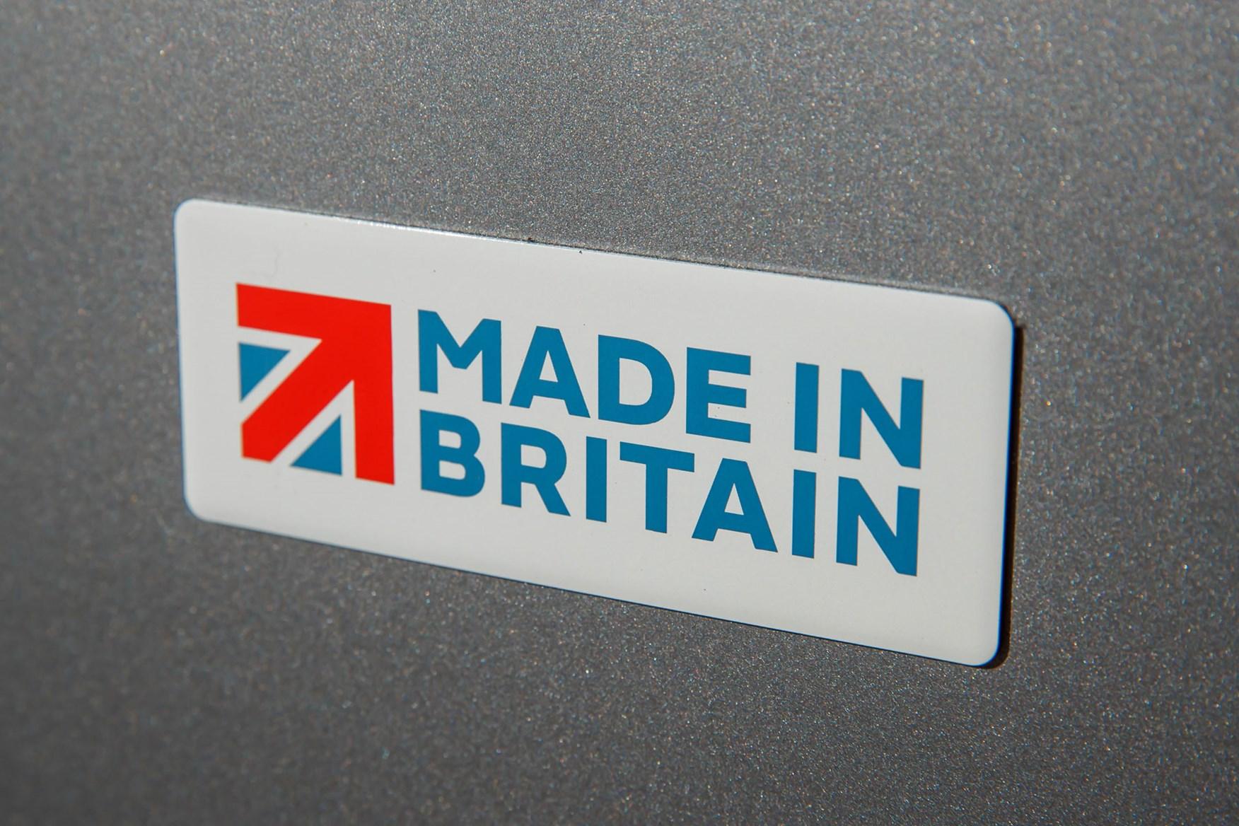 Vauxhall Vivaro Made in Britain badge on rear door