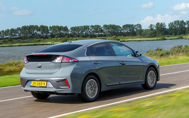 2019 grey Hyundai Ioniq Electric rear