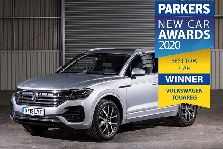 2020 Parkers new car awards best tow car Volkswagen Touareg