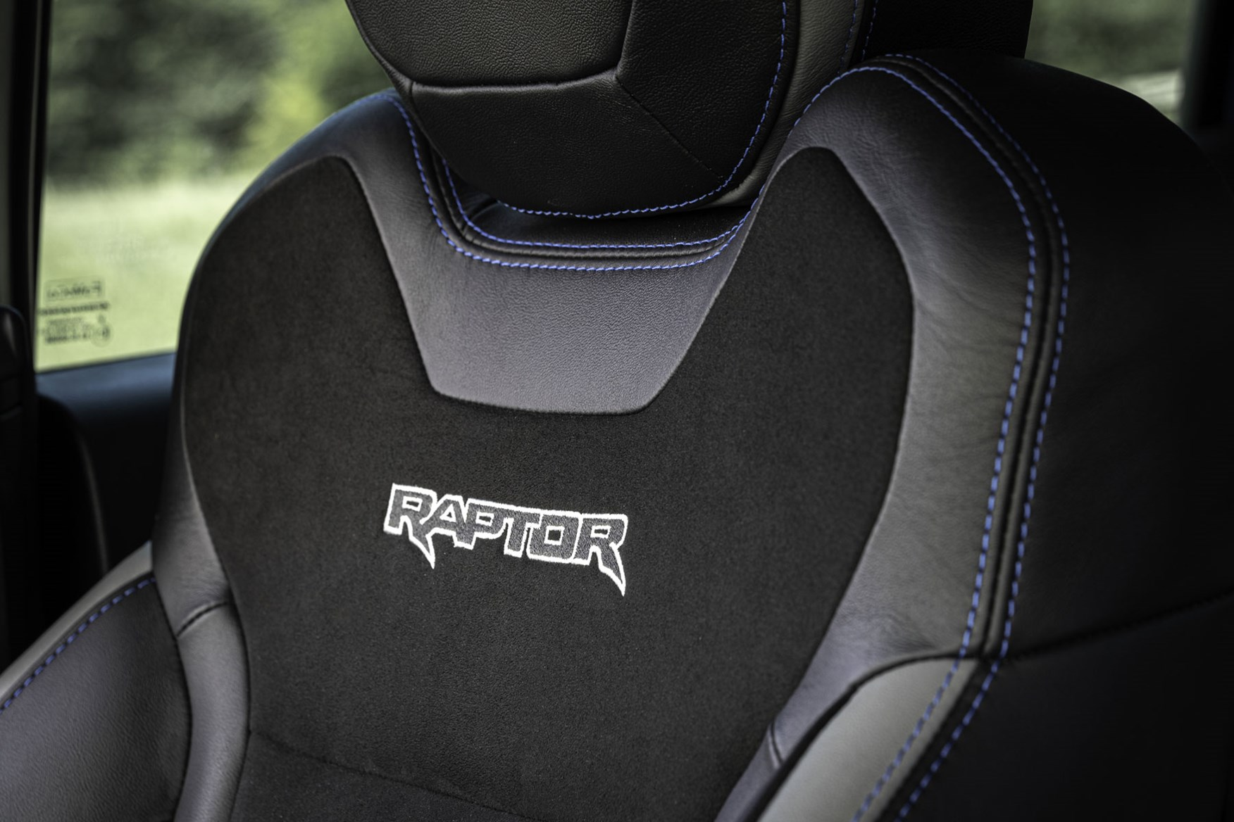 Ford Ranger Raptor review - front seats with Raptor logo, 2019