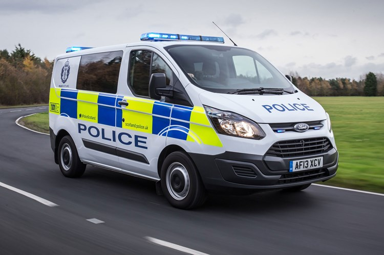 Van speed limits - 2020 - Ford Transit Custom police double cab / kombi