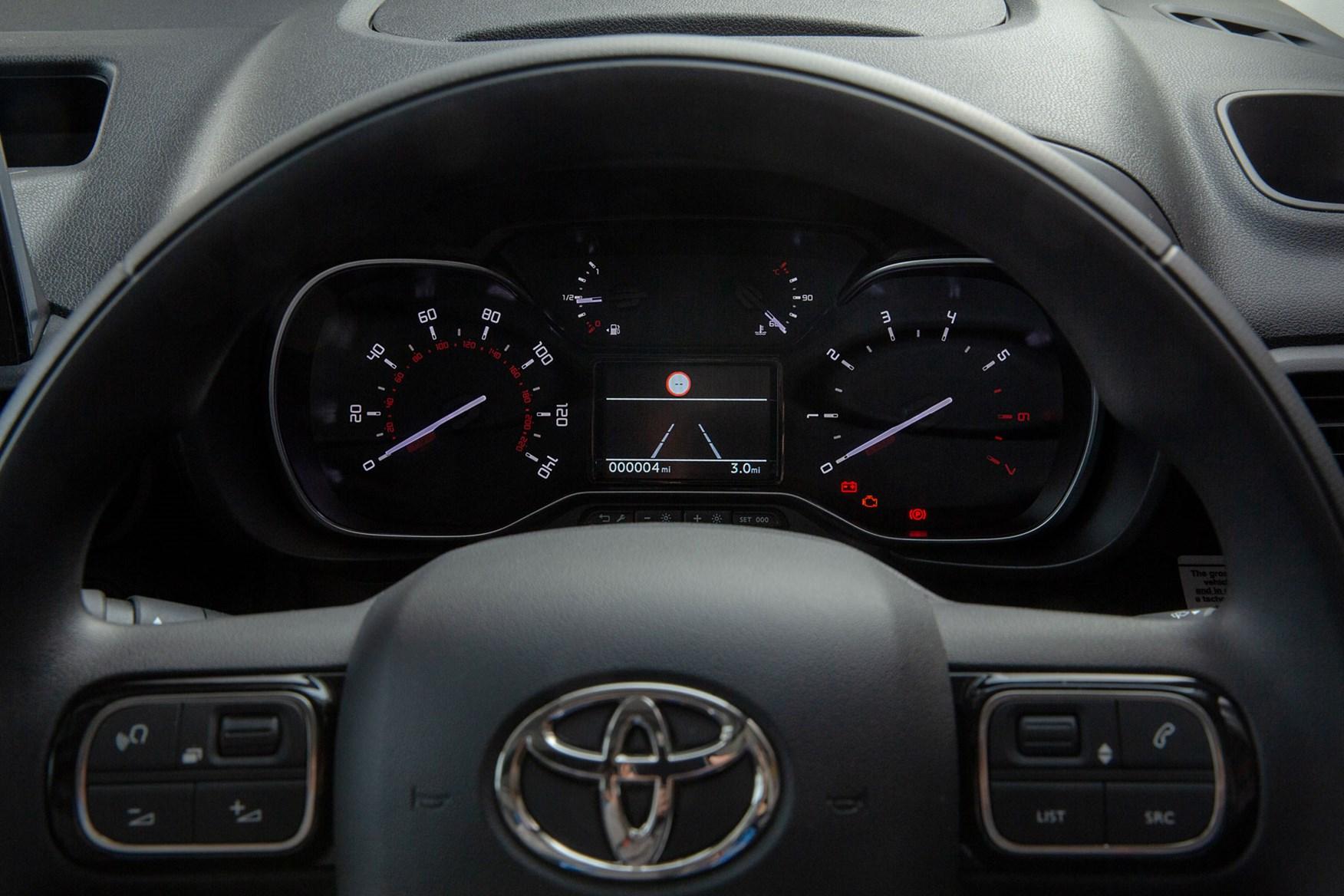 2020 Toyota Proace City review - cab interior, gauges