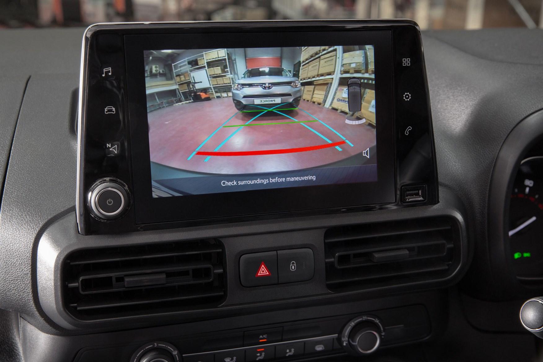 Toyota Proace City review - reversing camera